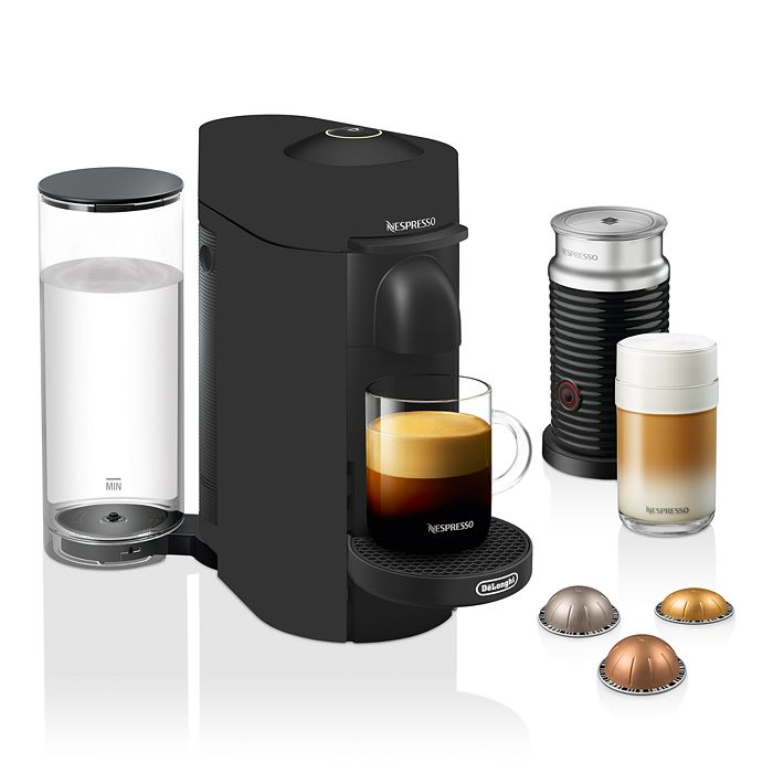 Nespresso - VertuoPlus by De'Longhi with Aeroccino Milk Frother, Black Matte, Limited Edition