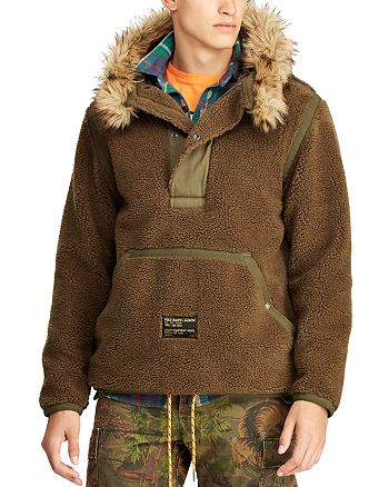Polo Ralph Lauren - Great Outdoors Faux Fur–Trimmed Fleece Hooded Pullover Jacket