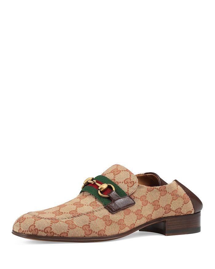 Gucci - Men's GG Supreme Canvas Horsebit Loafers