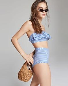 Suboo - Solstice Frill Bandeau Bikini Top & High-Waist Bikini Bottom