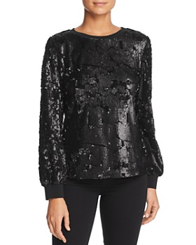 Le Gali - Elisa Sequined Velvet Blouse - 100% Exclusive