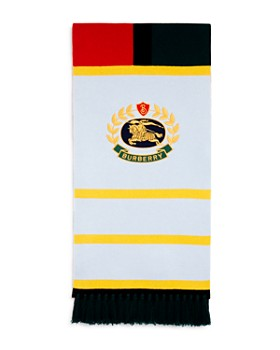 Burberry - Crest-Patch Rugby Scarf