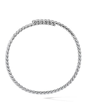 David Yurman - 18K White Gold Pavéflex Necklace with Diamonds