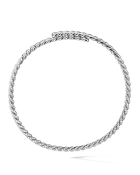David Yurman - Pavéflex Necklace with Diamonds in 18K White Gold