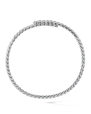 David Yurman Paveflex Necklace with Diamonds in 18K White Gold