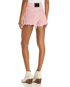 T by Alexander Wang - Stars-and-Stripes Denim Shorts