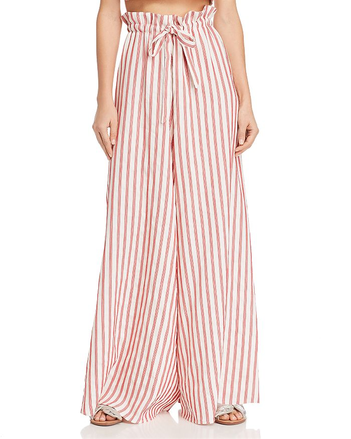 Paper London - Curacao Striped Wide-Leg Pants