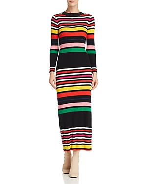 Paper London RAVE STRIPED SWEATER DRESS