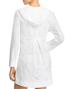 J. Valdi - Anguila Full-Zip Hooded Tunic Swim Cover-Up