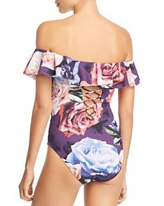 La Blanca - Bloom Fields Off-the-Shoulder One-Piece Swimsuit
