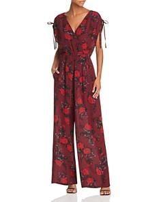 Band of Gypsies - Morgan Floral Tie-Detail Jumpsuit
