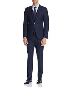 HUGO - Micro-Pattern 3-Piece Slim Fit Suit Separates