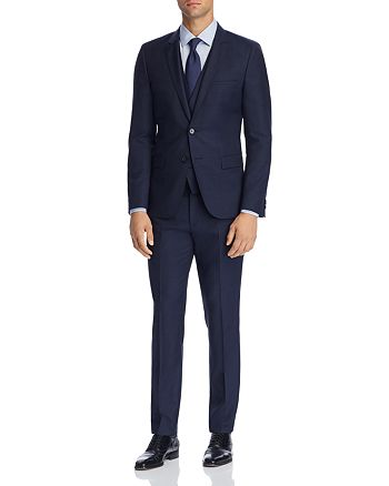 HUGO - Micro-Pattern 3-Piece Slim Fit Suit Separates