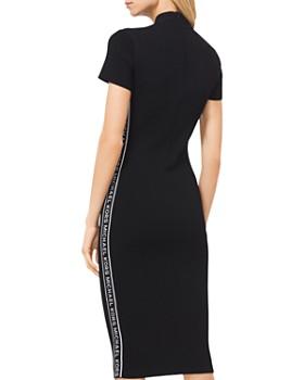 MICHAEL Michael Kors - Logo Tape Ribbed Knit Dress
