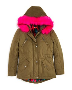 AQUA - Girls' Faux-Fur-Trimmed Jacket, Big Kid - 100% Exclusive