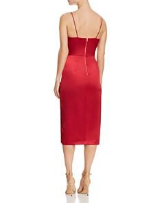 AQUA - Sleeveless Ruched Midi Dress - 100% Exclusive