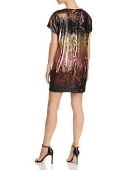 Aidan by Aidan Mattox - Ombré Sequin Shift Dress