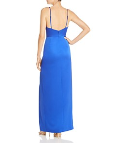 Laundry by Shelli Segal - Drape-Neck Ruched Gown