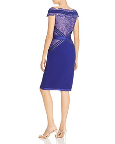 Tadashi Shoji - Off-The-Shoulder Lace-Trimmed Sheath Dress