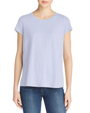 Eileen Fisher Organic Cotton Slub-Knit Tee