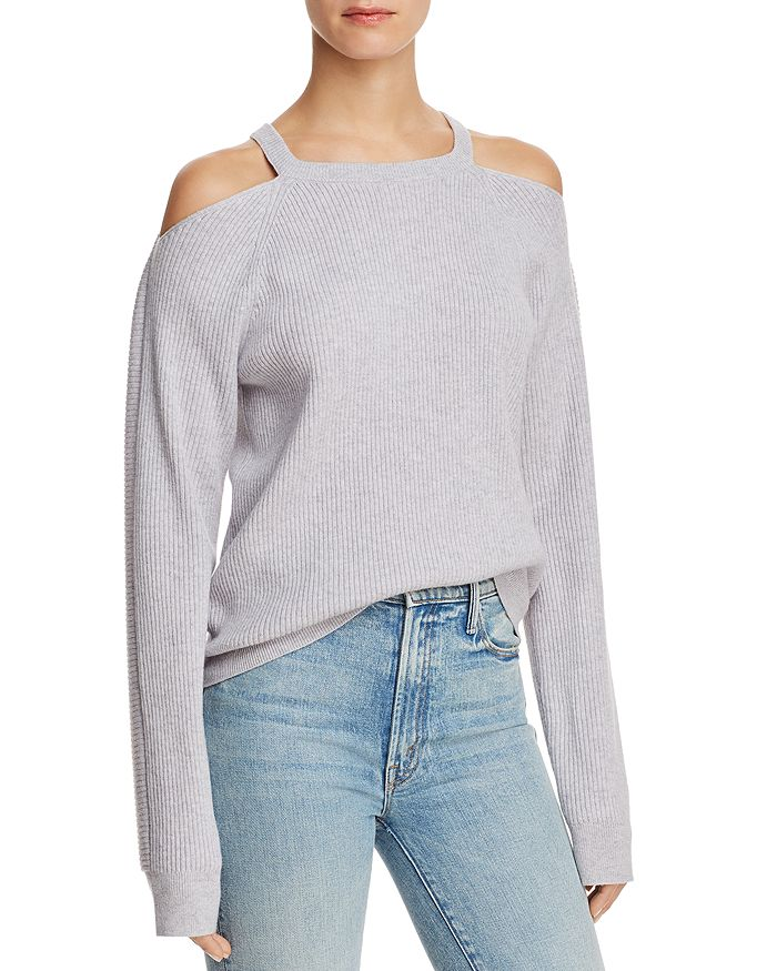 J Brand - Mackenzie Cold-Shoulder Cashmere Sweater
