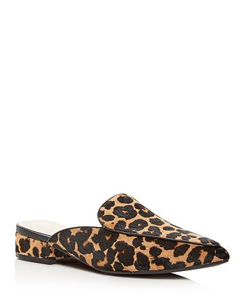 Cole Haan - Women's Piper Leopard Print Calf Hair Pointed-Toe Mules