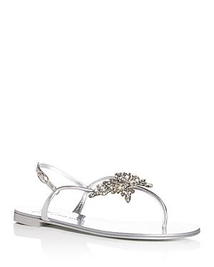 Giuseppe Zanotti Women's Swarovski Crystal Butterfly T-Strap Sandals