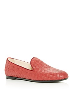 Bottega Veneta - Women's Woven Smoking Slippers