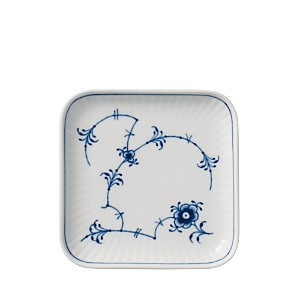 Royal Copenhagen Blue Fluted Plain Small Square Plate