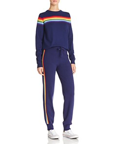 AQUA - Rainbow-Stripe Jogger Pants - 100% Exclusive