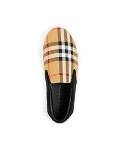 Burberry - Burberry Unisex Erwin Vintage Check Slip-On Platform Sneakers