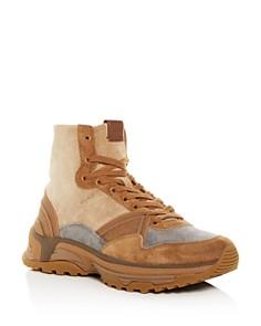 COACH - Men's C243 Color-Block Suede High-Top Sneakers