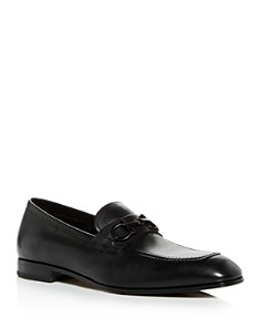 Salvatore Ferragamo - Men's Astermoon Plus Leather Apron-Toe Loafers