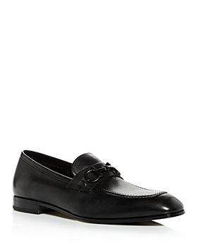 Salvatore Ferragamo - Men's Asten Leather Apron-Toe Loafers