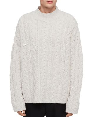 Gable Cable Knit Crewneck Sweater by Allsaints