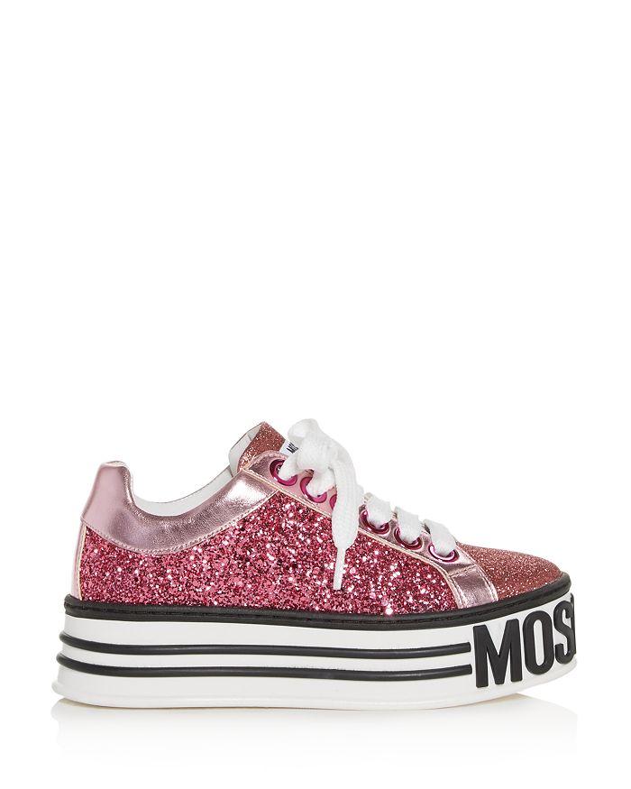 c404ac7c939 Moschino - Women s Glitter Low-Top Platform Sneakers