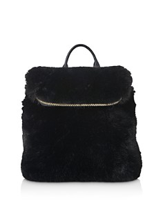 Whistles - Mini Verity Faux Fur Backpack