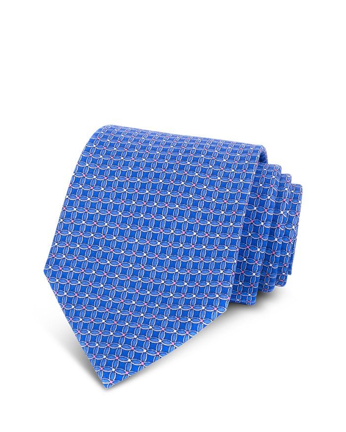The Men's Store at Bloomingdale's - Circle-Print Silk Classic Tie - 100% Exclusive