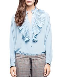 Zadig & Voltaire - Tamacco Ruffled Silk Shirt