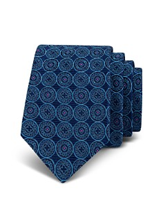 Ted Baker - Shadow Circle Silk Skinny Tie