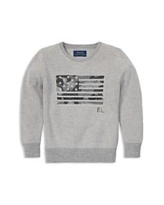 Ralph Lauren - Boys' Camo-Patterned Flag Sweater - Big Kid