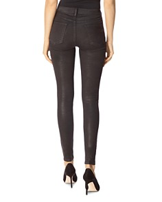 J Brand - Steph Shep #LittleBlackJean Lace-Up Ultra Skinny Jeans in Coated Vendetta