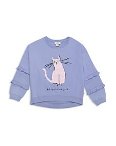 kate spade new york - Girls' Cat Glasses Sweatshirt - Big Kid