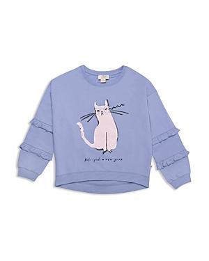 kate spade new york Girls' Cat Glasses Sweatshirt - Big Kid
