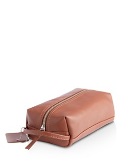 ROYCE New York - Leather Compact Toiletry Travel Bag