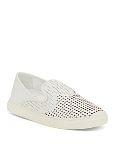 VINCE CAMUTO - Women's Bristie Woven & Perforated Slip-On Sneakers