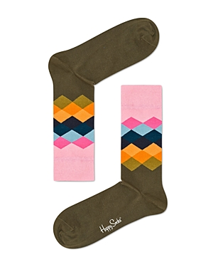 Happy Socks Men's Faded Diamond Socks