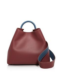 Elleme - Raisin Leather Shoulder Bag