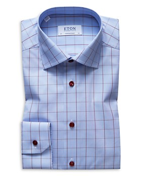 Eton - Windowpane Regular Fit Dress Shirt