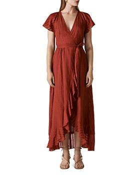 27607352fd Whistles - Nolita Maxi Wrap Dress ...